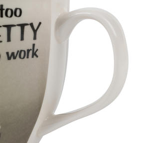 Cambridge CM04771 Oxford Too Pretty To Work Fine China Mug Thumbnail 3