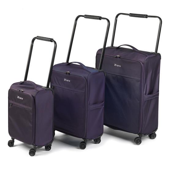 """ZFrame SH2228383PCDWPURMIL 8 Wheel Super Lightweight Suitcase Set, 18, 22 & 26"""", 10 Year Warranty, Purple"""