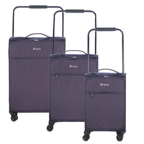 "ZFrame 4 Double Wheel Super Lightweight Suitcase 3 Piece Set, 18"", 22"", 26"", Purple, 10 Year Warranty Thumbnail 1"