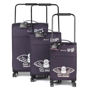 "ZFrame 4 Double Wheel Super Lightweight Suitcase 3 Piece Set, 18"", 22"", 26"", Purple, 10 Year Warranty Thumbnail 2"
