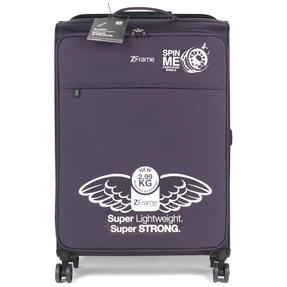 """ZFrame 4 Double Wheel Super Lightweight Suitcase 3 Piece Set, 18"""", 22"""", 26"""", Purple, 10 Year Warranty Thumbnail 10"""