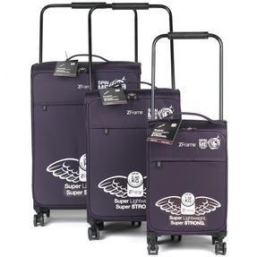 """ZFrame 4 Double Wheel Super Lightweight Suitcase 3 Piece Set, 18"""", 22"""", 26"""", Purple, 10 Year Warranty Thumbnail 11"""