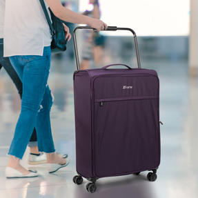 """ZFrame 4 Double Wheel Super Lightweight Suitcase 3 Piece Set, 18"""", 22"""", 26"""", Purple, 10 Year Warranty Thumbnail 4"""