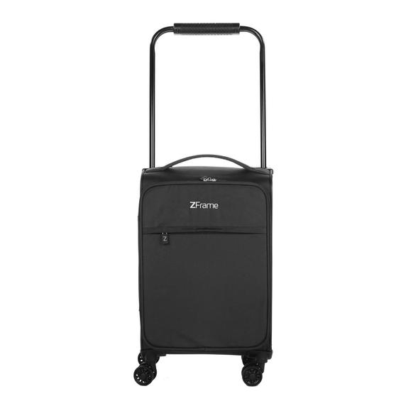 "ZFrame 18"" Small 4 Double Wheel Super Lightweight Cabin Suitcase, 1.98 kg, 30 Litre, Black, 10 Year Warranty"