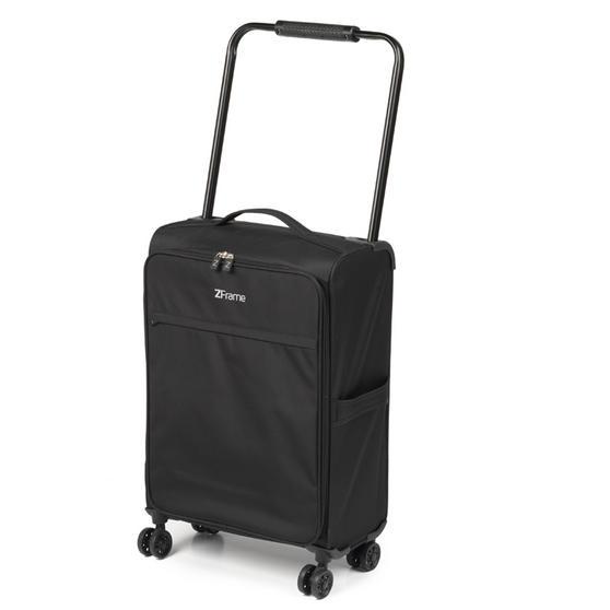 """ZFrame SH22283818DWMIL 8 Wheel Super Lightweight Cabin Approved Suitcase, 18"""", 10 Year Warranty, Black"""