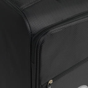 "ZFrame 18"" Small 4 Double Wheel Super Lightweight Cabin Suitcase, 1.98 kg, 30 Litre, Black, 10 Year Warranty Thumbnail 4"