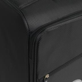 "ZFrame 22"" Medium 4 Double Wheel Super Lightweight Suitcase, 2.48 kg, 51 Litre, Black, 10 Year Warranty Thumbnail 4"