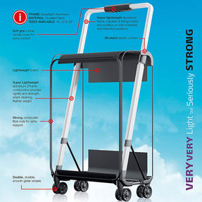 "ZFrame 22"" Medium 4 Double Wheel Super Lightweight Suitcase, 2.48 kg, 51 Litre, Black, 10 Year Warranty Thumbnail 5"