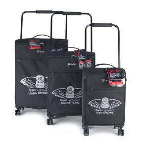 "ZFrame 22"" Medium 4 Double Wheel Super Lightweight Suitcase, 2.48 kg, 51 Litre, Black, 10 Year Warranty Thumbnail 7"
