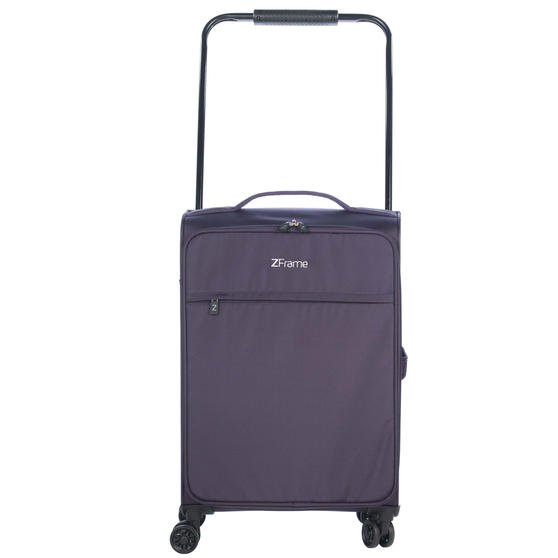 "ZFrame 22"" Medium 4 Double Wheel Super Lightweight Suitcase, 2.48 kg, 51 Litre, Purple, 10 Year Warranty"