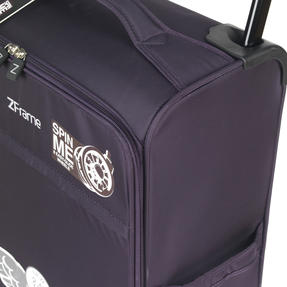 "ZFrame 22"" Medium 4 Double Wheel Super Lightweight Suitcase, 2.48 kg, 51 Litre, Purple, 10 Year Warranty Thumbnail 4"