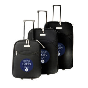 Constellation 3 Piece Plain Black Eva Luggage Set