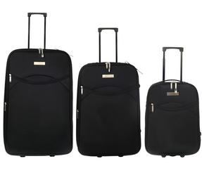 Constellation Eva 3 Piece Suitcase Set, 18/24/28?, Plain Black Thumbnail 2