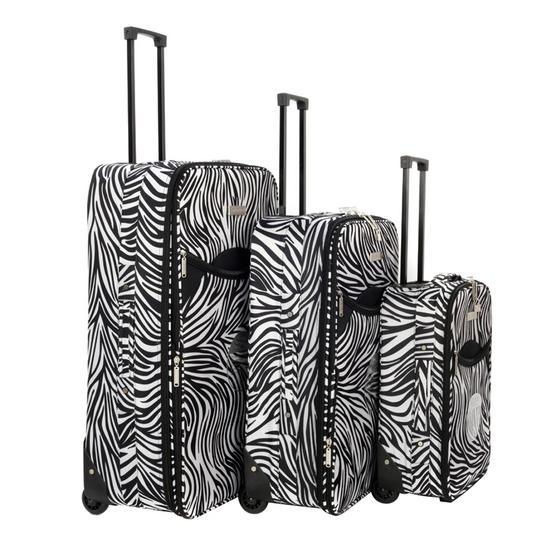 Constellation 3 Piece Zebra Print Eva Luggage Set