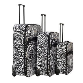 Constellation 3 Piece Zebra Print Eva Luggage Set