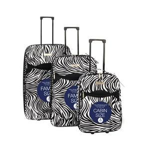Constellation 3 Piece Zebra Print Eva Luggage Set Thumbnail 2