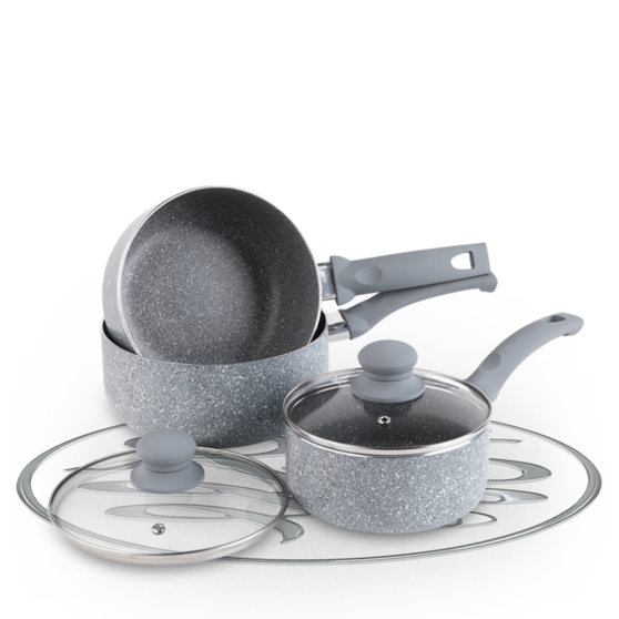 Russell Hobbs Stone Collection Daybreak 3 Piece Kitchen Pan Set Preview
