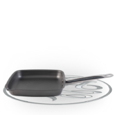 Russell Hobbs Infinity Carbon Steel Griddle Pan, 26 cm, Grey Thumbnail 1