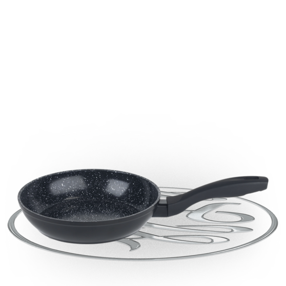 Russell Hobbs Stone Collection 20cm Black Frying Pan