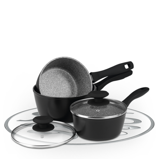 Russell Hobbs Stone Collection 3 Piece Grey Pan Set BW04221G Preview