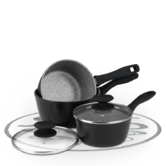 Russell Hobbs Stone Collection 3 Piece Grey Pan Set BW04221G Thumbnail 1