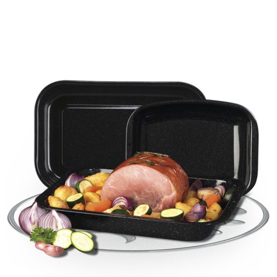 Russell Hobbs  3-Piece Vitreous Enamel Roaster and Chop Tray Set CW20701 Preview
