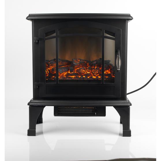 "Beldray Panoramic Electric Stove, 1500 W, 20"", Black"