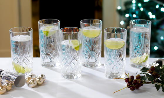 RCR 25766020006 Crystal Melodia High Ball Glasses Tumblers
