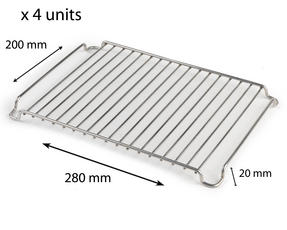 Stainless Steel 280mm x 200mm Cooling Roasting Rack RACK0028 x 4 units