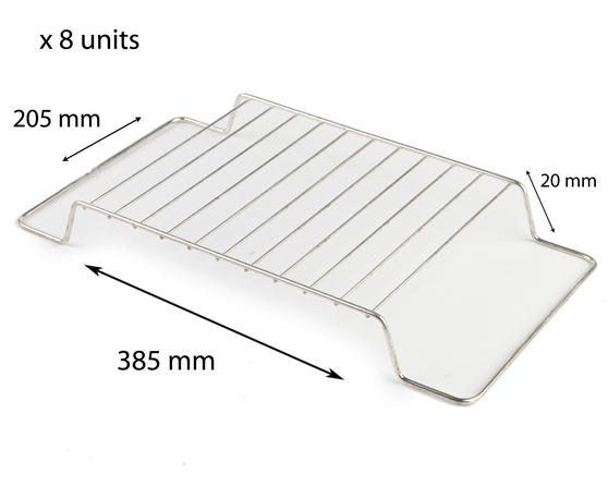 Stainless Steel 385mm x 205mm Cooling Roasting Rack RACK0009 x 8 units