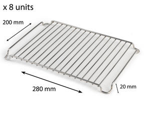 Stainless Steel 280mm x 200mm Cooling Roasting Rack RACK0028 x 8 units Thumbnail 1