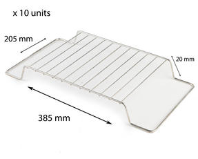 Stainless Steel 385mm x 205mm Cooling Roasting Rack RACK0009x 10 units Thumbnail 1