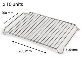 Stainless Steel 280mm x 200mm Cooling Roasting Rack RACK0028x 10 units