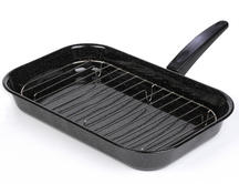 Salter 38cm Black Enamel Grill Pan With Rack And Handle BW00121 Thumbnail 1