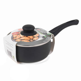 Russell Hobbs BW00784 Ceramic Coated Saucepan with Glass Lid, 16 cm, Black Thumbnail 12