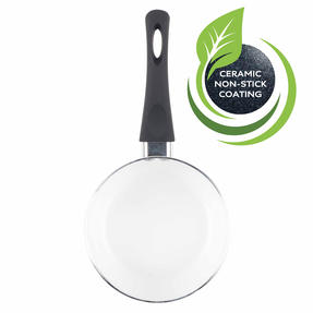 Russell Hobbs BW00784 Ceramic Coated Saucepan with Glass Lid, 16 cm, Black Thumbnail 3