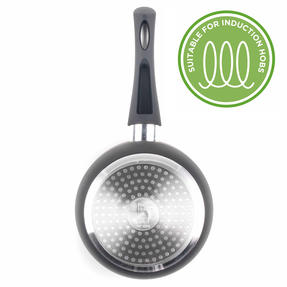 Russell Hobbs BW00784 Ceramic Coated Saucepan with Glass Lid, 16 cm, Black Thumbnail 4