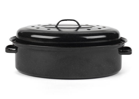 Russell Hobbs CW11491 Vitreous Enamel 36cm Self Basting Roaster With Lid