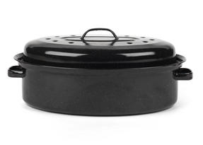 Russell Hobbs CW11491 Vitreous Enamel 36cm Self Basting Roaster With Lid Thumbnail 1