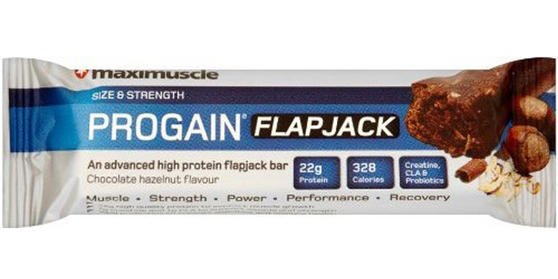 Maximuscle Raisin Nut Chocolate Progain Flapjack Bar - Box Of 12 x 90g