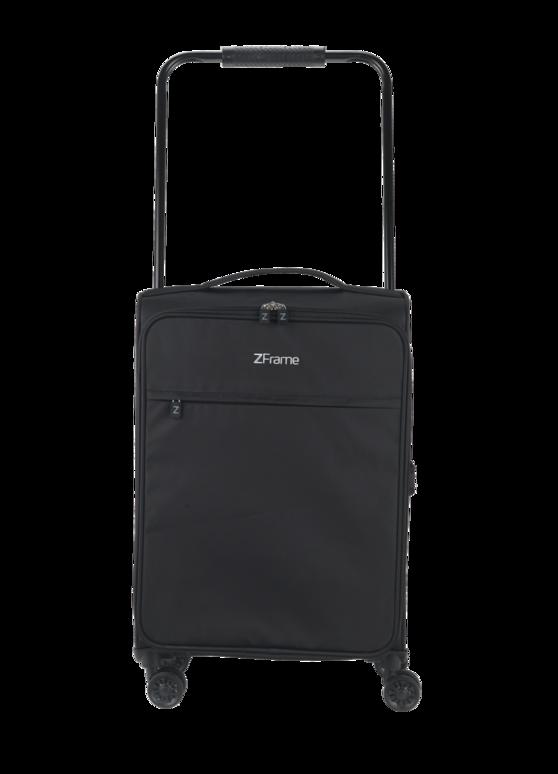 """ZFrame 8 Wheel Super Lightweight Suitcase, 22"""", Black"""