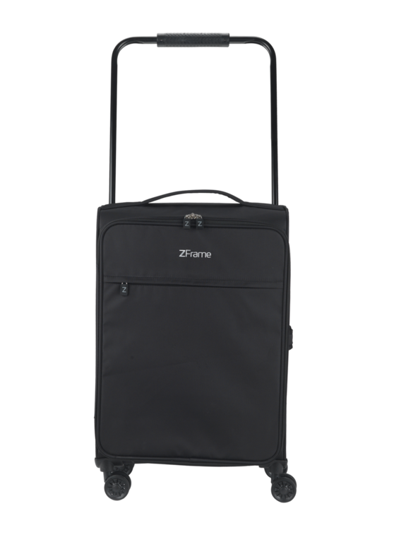 "ZFrame 22"" Medium 4 Double Wheel Super Lightweight Suitcase, 2.48 kg, 51 Litre, Black, 10 Year Warranty"