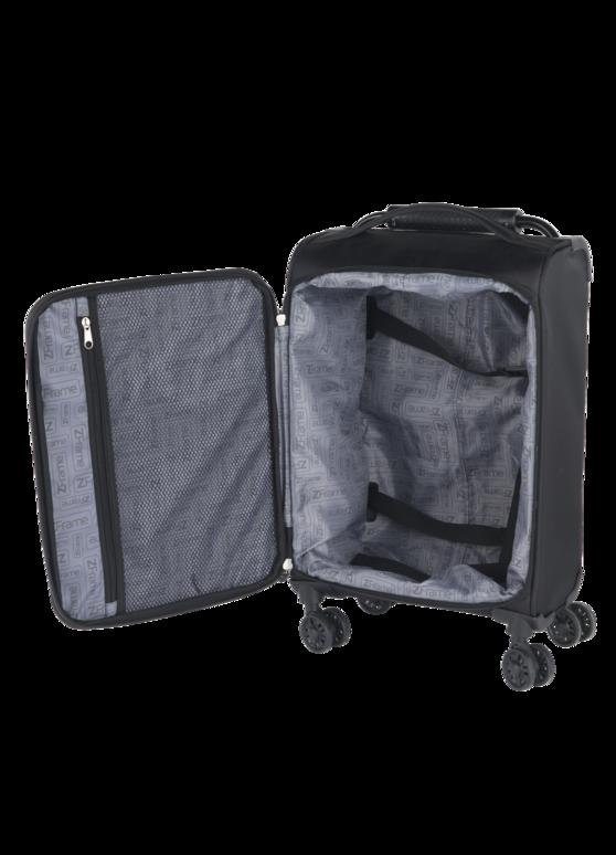 "ZFrame 8 Wheel Super Lightweight Suitcase, 22"", Black Thumbnail 3"