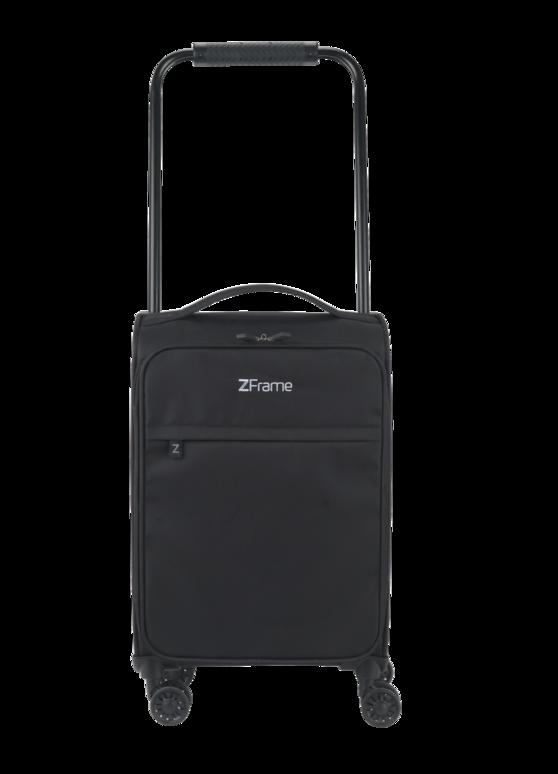 """ZFrame 8 Wheel Super Lightweight Suitcase, 18"""", Black"""