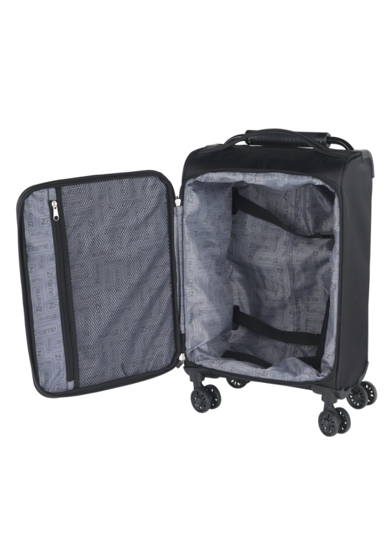 "ZFrame 8 Wheel Super Lightweight Suitcase, 18"", Black Thumbnail 3"