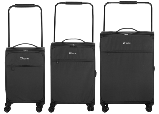"ZFrame 18"", 22"", 26"" 4 Double Wheel Suitcase 3 Piece Set"