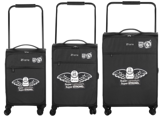 "ZFrame 18"", 22"", 26"" 4 Double Wheel Suitcase 3 Piece Set Thumbnail 2"