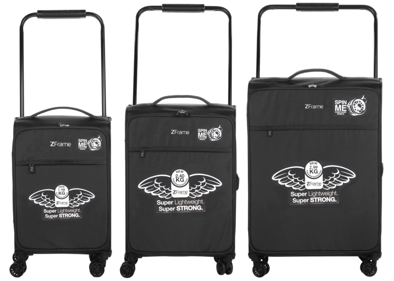 "ZFrame 18"", 22"", 26"" 4 Double Wheel Suitcase 3 Piece Set"