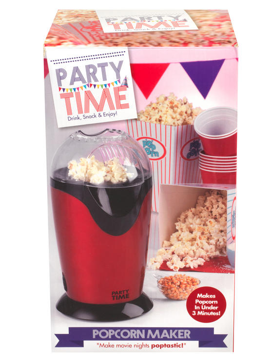 Party Time EK1524 Red Popcorn Maker