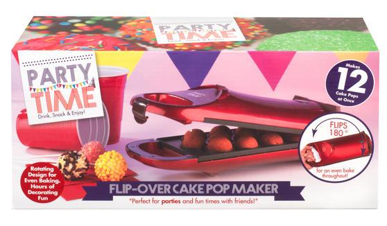 Party Time EK2069 Red 180° Flip Over Cake Pop Maker